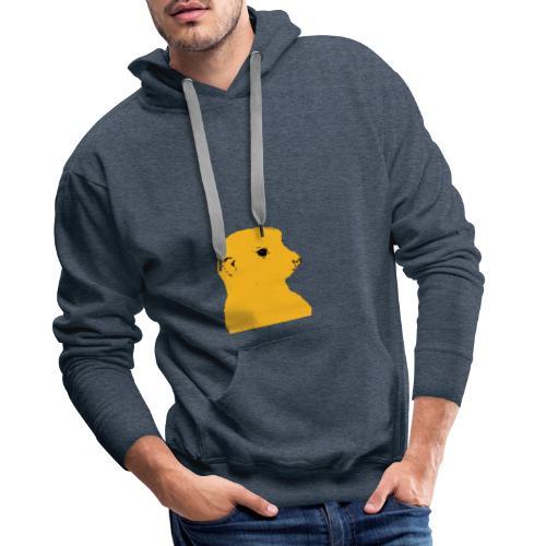 Erdmaennchen gelb schwarz - Männer Premium Hoodie