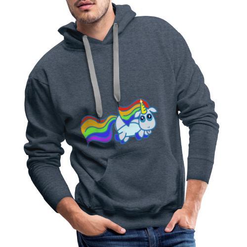 Nyan unicorn - Felpa con cappuccio premium da uomo