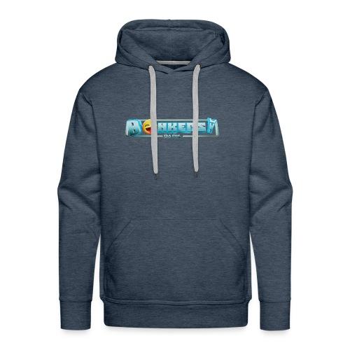 Logo Blue - Sweat-shirt à capuche Premium pour hommes