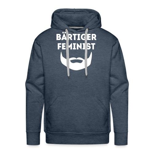 Bärtiger Feminist - Männer Premium Hoodie