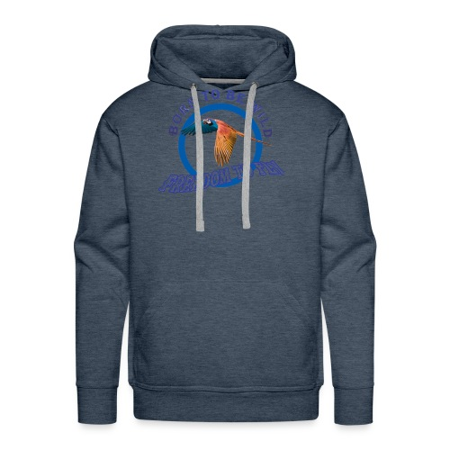 born to be wild papagaio blue 2018 new no backgrou - Men's Premium Hoodie