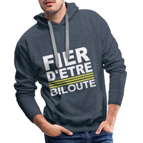 Fier BILOUTE Blanc 01 - Sweat-shirt à capuche Premium pour hommes
