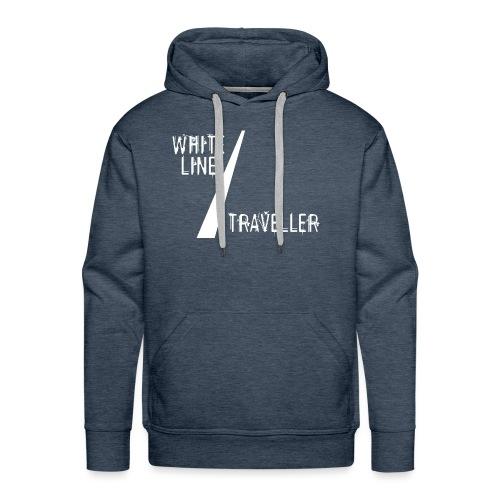 white line traveller - Mannen Premium hoodie