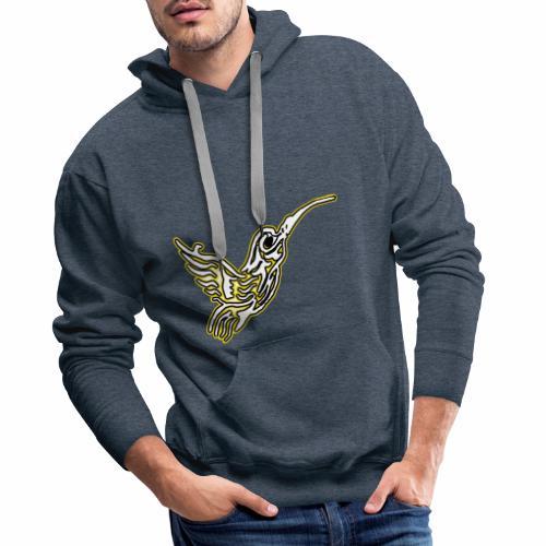 Colibri tête de mort Blanc - Sweat-shirt à capuche Premium pour hommes