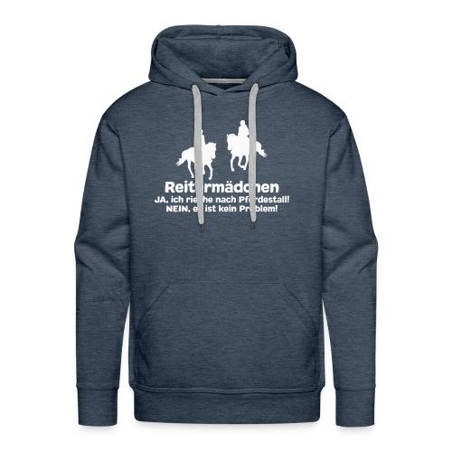 Reitermädchen Reiten Pferde Pferdespruch - Männer Premium Hoodie