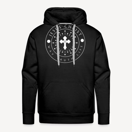 JESUS CHRIST -WAY TRUTH LIFE - Men's Premium Hoodie