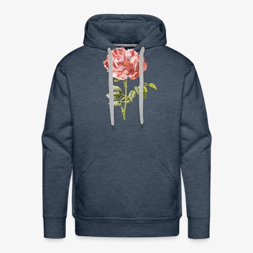tulipe vintage - Sweat-shirt à capuche Premium pour hommes