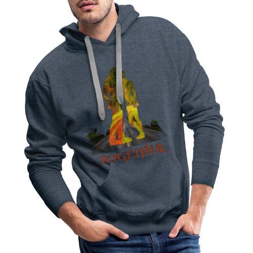 Together -by- T-shirt chic et choc - Sweat-shirt à capuche Premium pour hommes