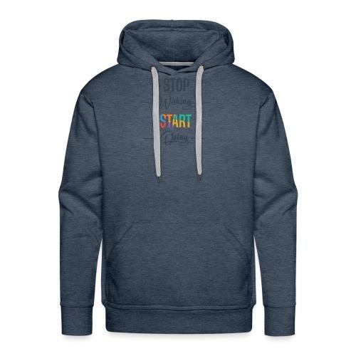 OK start Doing - Sweat-shirt à capuche Premium pour hommes