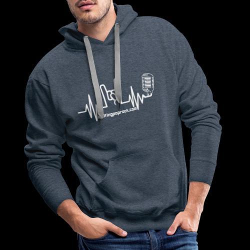 Le logo et l'adresse - Sweat-shirt à capuche Premium pour hommes