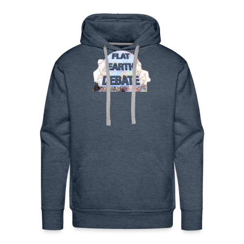 Flat Earth Debate Cartoon - Men's Premium Hoodie