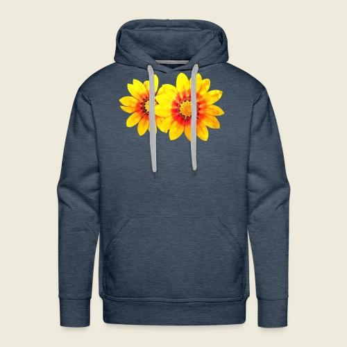 Leuchtende gelbe Blumen - Männer Premium Hoodie