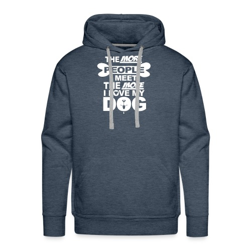the more people i meet - Mannen Premium hoodie