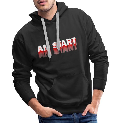 am Start - rot weiß faded - Männer Premium Hoodie