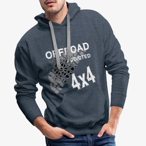 Defender Land-Rover OFF Road White - Männer Premium Hoodie
