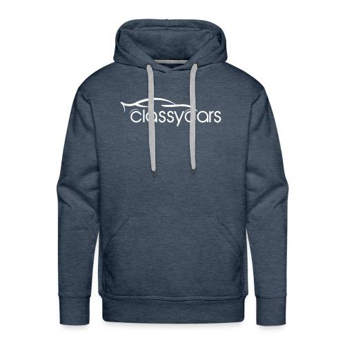 ClassyCars White Logo - Felpa con cappuccio premium da uomo