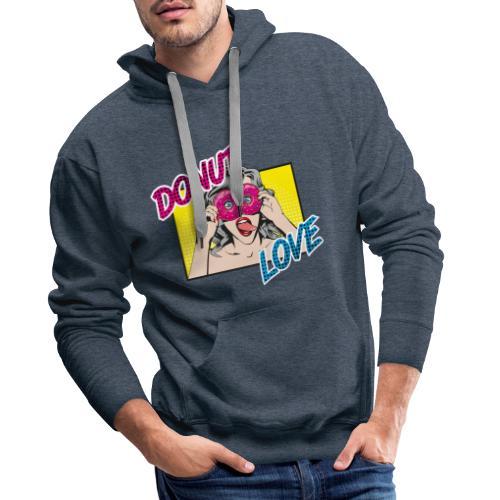 Popart - Donut Love - Zunge - Süßigkeit - Männer Premium Hoodie