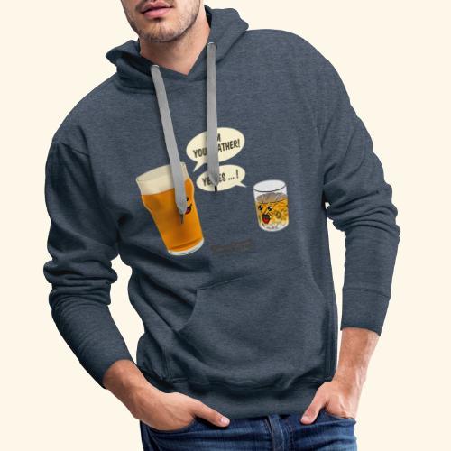 Bier & Whisky Spruch I am your father - Männer Premium Hoodie