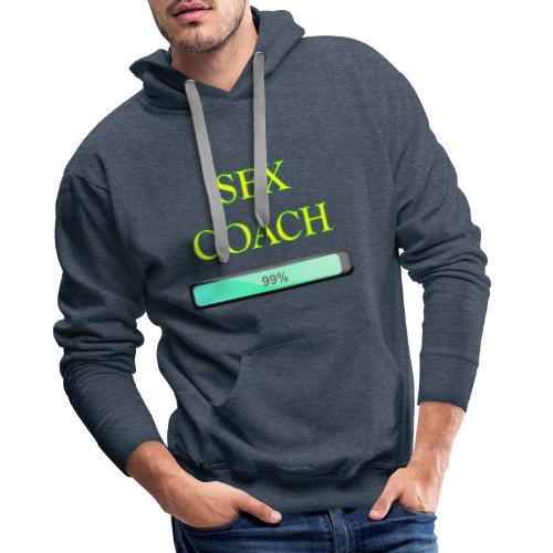 sex coach - Sweat-shirt à capuche Premium pour hommes