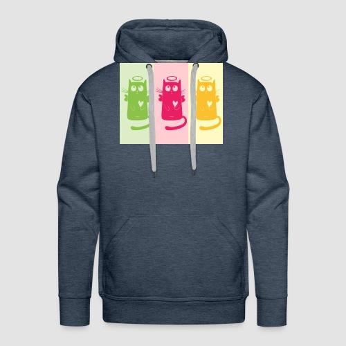 katze shirt - Männer Premium Hoodie