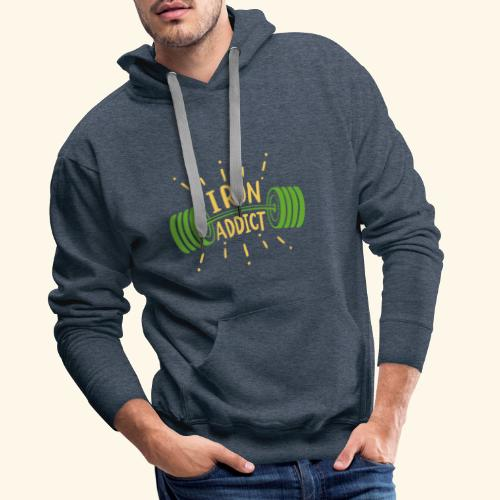 Langhantel Iron Addict Gym Shirt - Männer Premium Hoodie