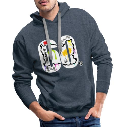 6bulle Splash 2 & 60 - Sweat-shirt à capuche Premium pour hommes
