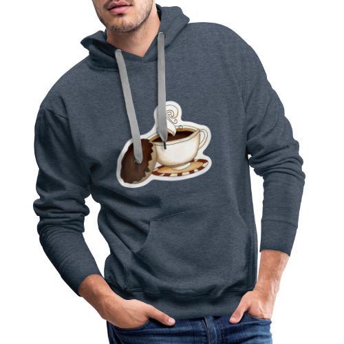 Kaffee und Donut - Männer Premium Hoodie