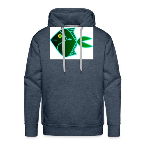 Green anglefish - Mannen Premium hoodie
