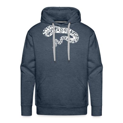 python white pattern - Männer Premium Hoodie