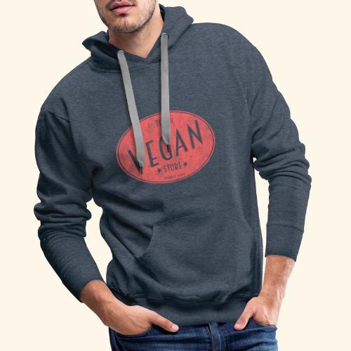 The Vegan Store - Vintage Store Logo design - Men's Premium Hoodie