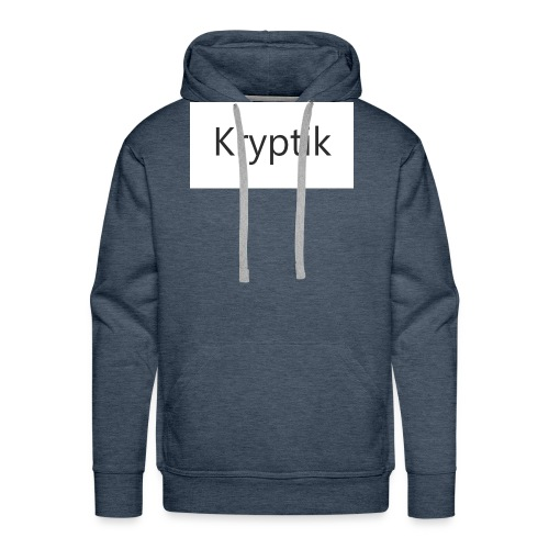 Kryptik Weiß Design - Männer Premium Hoodie