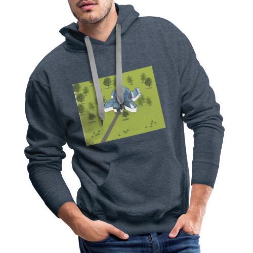 Żółwiarium - Bluza męska Premium z kapturem