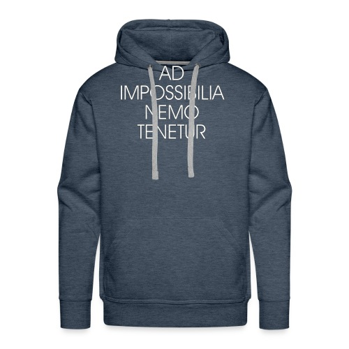 Ad Impossibilia Nemo Tenetur t-shirt avvocato - Men's Premium Hoodie