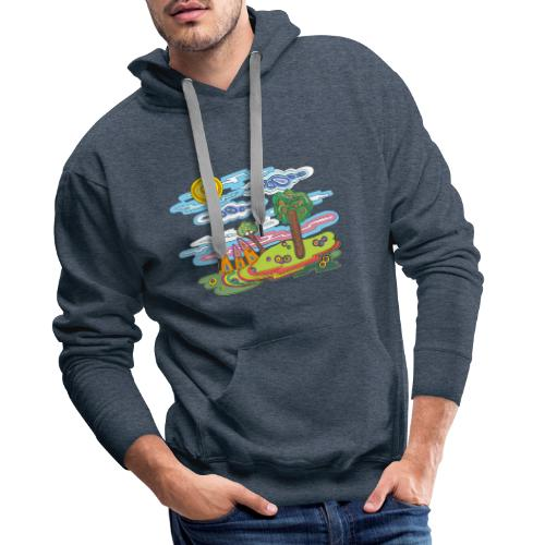 Paysage fantastique - Sweat-shirt à capuche Premium pour hommes