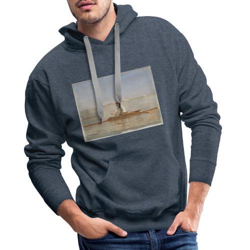 John Biglin in a Single Scull - Thomas Eakins - Sweat-shirt à capuche Premium pour hommes