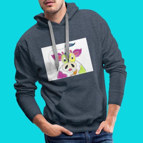Vrolijke koeien - Mannen Premium hoodie