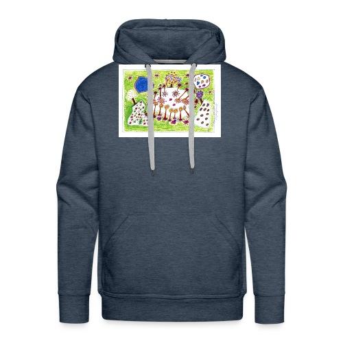 img821.---Popurri salvaje de colores - Sudadera con capucha premium para hombre