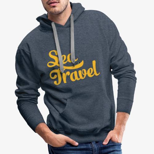sea travel - Sweat-shirt à capuche Premium pour hommes