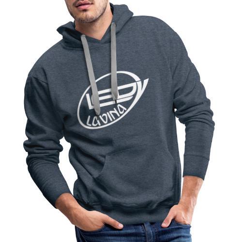 LaLa Logo weiss - Männer Premium Hoodie