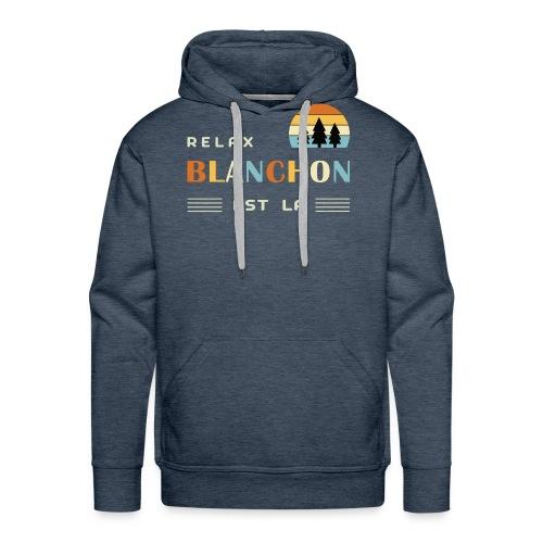 blanchon tshirt - Sweat-shirt à capuche Premium pour hommes