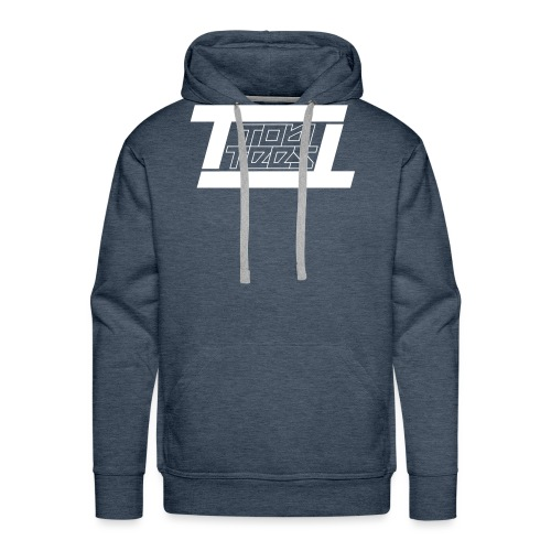 TobiTees 2020 logo white outline - Mannen Premium hoodie