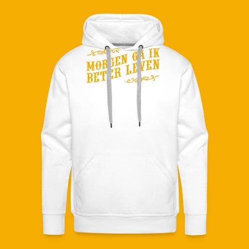 tshirt yllw 01 - Mannen Premium hoodie