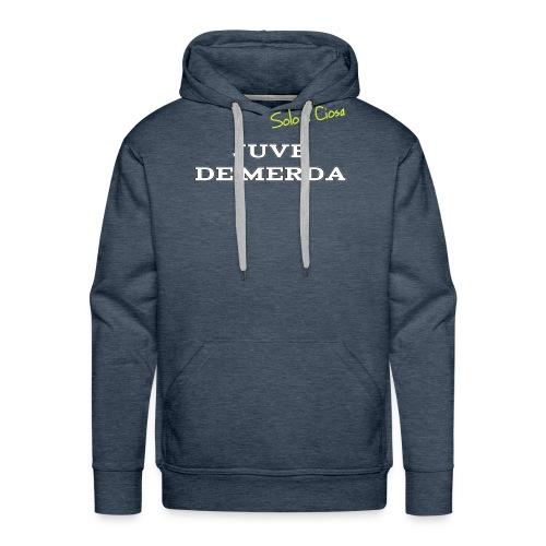 JUVE DE MERDA - Felpa con cappuccio premium da uomo