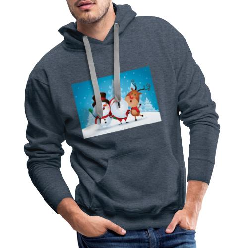 Collection Noel - Sweat-shirt à capuche Premium pour hommes