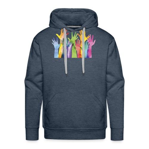 Alll hands - Mannen Premium hoodie