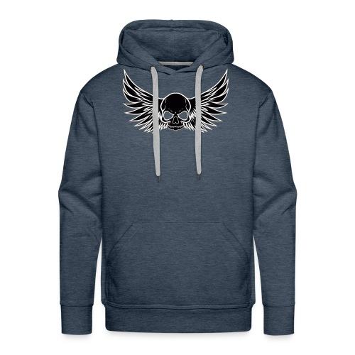 skull wings black - Mannen Premium hoodie