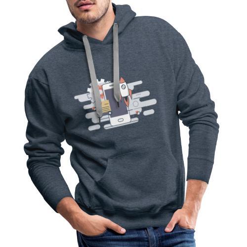 Mobile dev! - Bluza męska Premium z kapturem