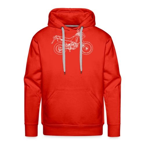 NX line wit - Mannen Premium hoodie