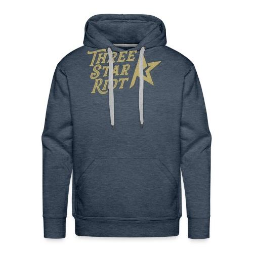 Three Star Riot logo väri - Miesten premium-huppari