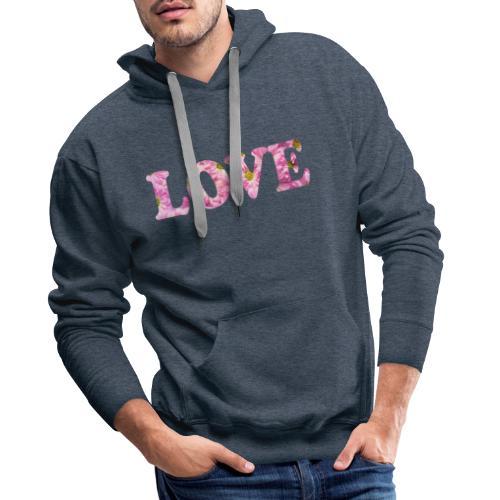 Love with tulipes - Sweat-shirt à capuche Premium pour hommes